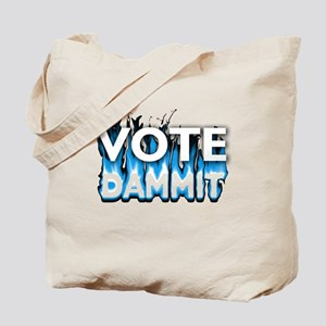 Vote Dammit - Blue Tote Bag